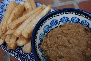 Balsamic Infused Jicama and Cinnamon Vanilla Almond Dip