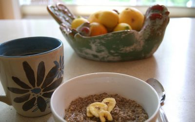 Breakfast of Champions: Delicious Oatmeal with Hemp Powder and Flax Seed
