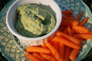 Zucchini Basil Hummus