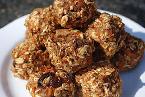 No Bake Pumpkin Carrot Oatmeal Balls