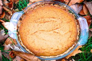 Vegan Pumpkin Pie with Coconut Cream Topping