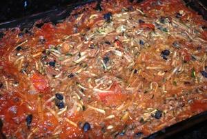 Zucchini Spaghetti Bake