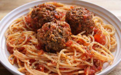 Eggplant Spaghetti Balls