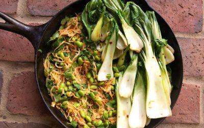 Chili Garlic Bok Choy & Noodles