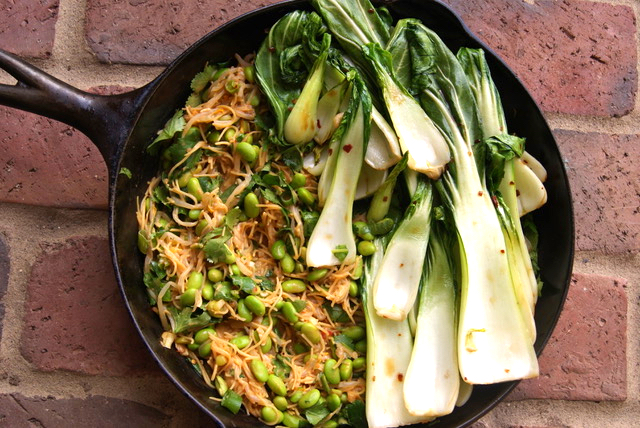 Chili Garlic Bok Choy & Noodles